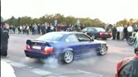 BMW M3 - Illegal Streetaction & Burnout